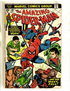 Amazing Spider-Man # 140 FN Marvel Comic Book Goblin Vulture MJ Rhino Gwen HY1