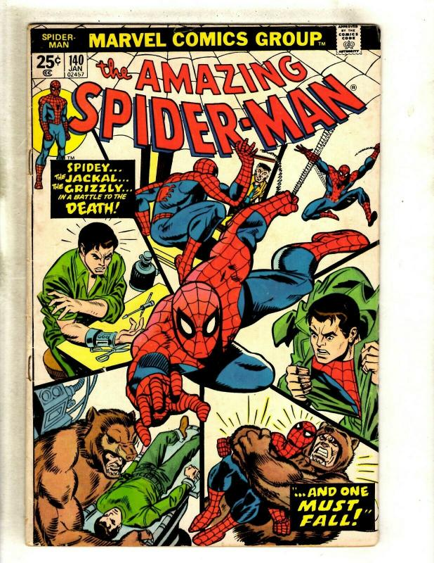 Amazing Spider-Man # 140 FN Marvel Comic Book Goblin Vulture MJ Rhino Gwen HY1