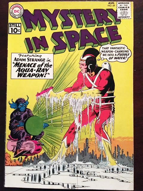 MYSTERY IN SPACE #69 GLOSSY F/VF CLASSIC DC SILVER AGE ADAM STRANGE!