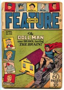 Feature Comics #109 1947- DOLL MAN- Golden Age G-