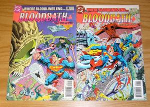 Bloodbath #1-2 FN/VF complete series - batman superman bloodlines set lot 1993