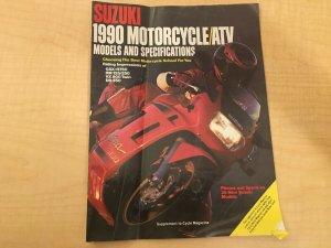 6 Magazines Suzuki 1990  Cycle Bakker-Yamaha Thrills! Softail Accessories+ JKT10