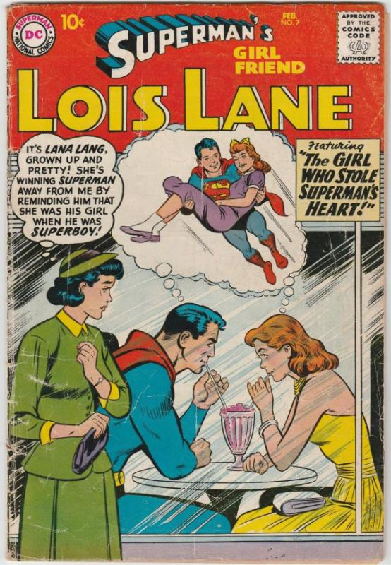 Superman's Girlfriend Lois Lane #7 (Feb-59) VG Affordable-Grade Superman, Loi...