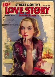 Love Story Pulp July 31 1937- Modest Stein cover- Dearest Diary VG