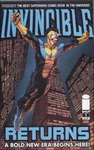 Invincible Returns #1 (2nd) VF/NM; Image   save on shipping - details inside