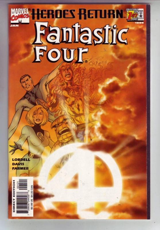 Fantastic Four Heroes Return Alternate Cover #1 (Jan-98) NM- High-Grade Fanta...