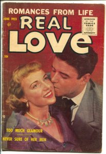Real Love #68 1955-Ace-photo cover-Too Much Glamour-VG