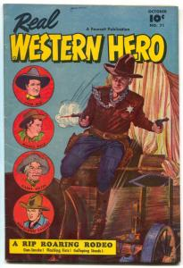 REAL WESTERN HERO #71 HOPALONG TOM MIX 1ST GABBY HAYES FN