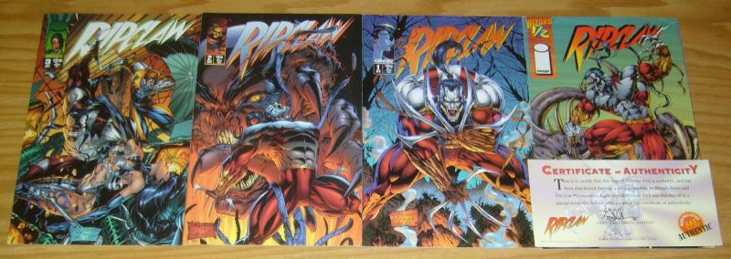 Ripclaw #½ & 1-3 VF/NM complete series - cyberforce spin-off set - image comics