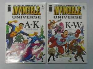 Official Handbook of the Invincible Universe set #1+2 8.0 VF (2006 Image)