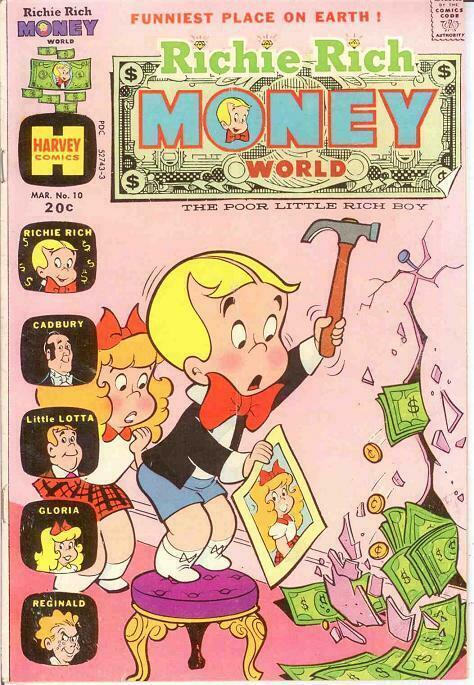 RICHIE RICH MONEY WORLD (1972-1982) 10 F March 1974 COMICS BOOK