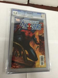 The New Avengers 1 Spider-Man Variant Cgc 9.8 White Pages