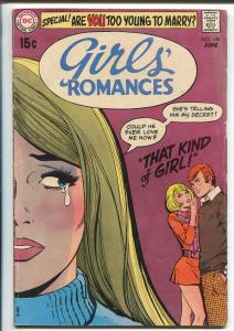 Girls' Romances #149 1970-DC-That Kind Of Girl-VG