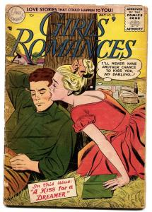 GIRLS' ROMANCES #39 comic book 1956-DC COMICS-POETRY-PICNIC COVER!