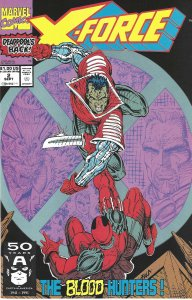 X-Force #2 (Sept 91)- VF+ - Deadpool's back! Cable, Weapon X! Cap in barcode box