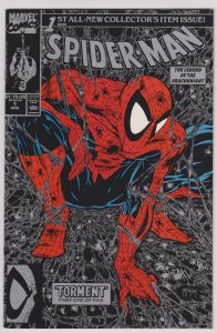 Spider-Man #1 (VF-NM) 1990 McFarlane Silver Direct Issue Cover