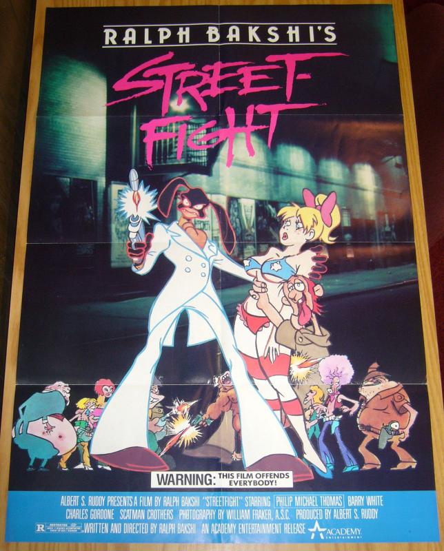 Ralph Bakshi's Street Fight movie poster - 33.25 x 22.5 academy entertainment