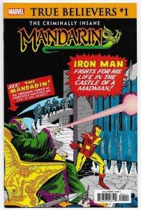True Believers Criminally Insane #1 Rep Tales Of Suspense | 1st Mandarin (NM)