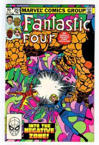 FANTASTIC FOUR #251, NM, John Bryne,1983, Thing, Neg Zone, more FF in store