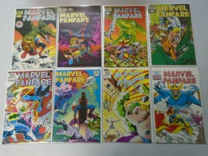 Marvel Fanfare lot 43 different from #1-59 6.0 FN (1982-91 1st Series)