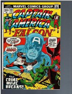 Captain America #158 (1973) - KEY 1st Crime Wave