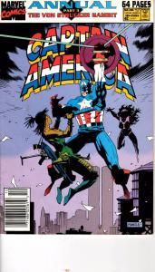 Lot Of 2 Captain American Annual Marvel Comic Book #10 11 J196