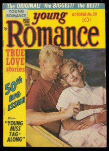 YOUNG ROMANCE #50 1952-PHOTO COVER-MILITARY LOVE ISSUE VG/FN