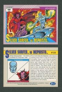 1991 Marvel Comics II  Card  #123 ( Silver Surfer vs Mephisto )  MINT
