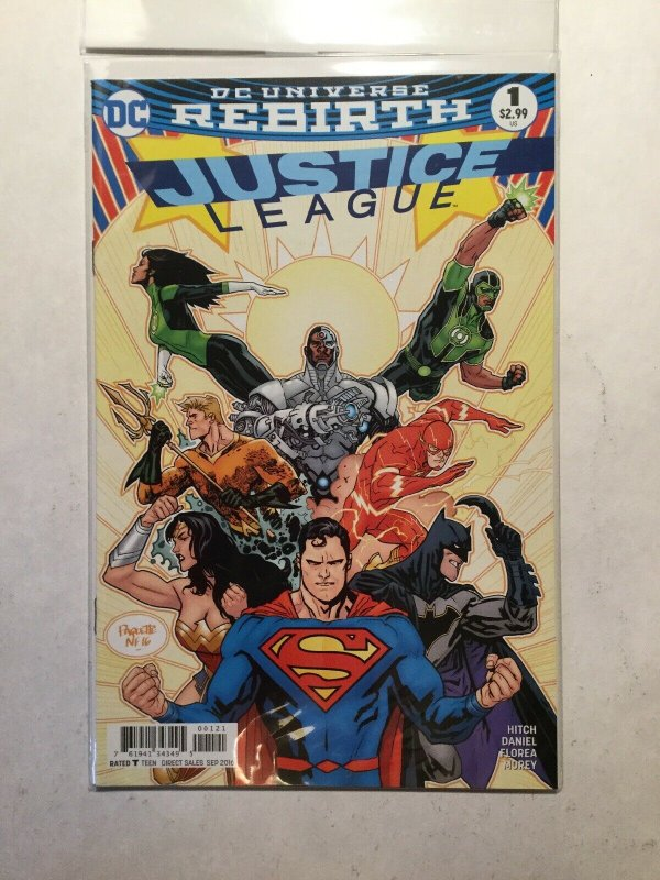 Justice League Rebirth 1 Plus Variant Near Mint Nm Dc Comics