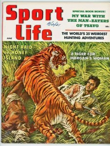 Sport Life Magazine June 1957  Night Raid on Honey Island  Tsavo Man-Eaters