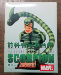 Scorpion Spider-Man Art Asylum Rogue's Gallery Bust Figure Spiderman Japan Rare