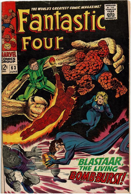 Fantastic Four #63, 4.0 or Better - Sandman and Blastaar Team Up