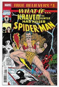 True Believers What If Kraven Hunter Killed Spider-Man #1 (Marvel, 2018) NM