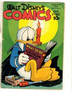 Walt Disney's Comics & Stories # 59 VG Golden Age Dell Comic Book Donald JL15