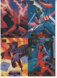 Marvel Masterpieces Uncut 4 Card Promotional Trading Sheet(Fleer Ultra, 1994)