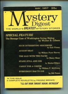 MYSTERY DIGEST-#1-MAY 1957-PULP-CRIME-SHADOW-SOUTHERN STATES PEDIGREE-vf