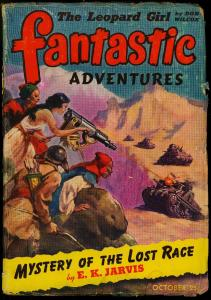 Fantastic Adventures Pulp October 1942- Mystery of the Lost Race- VG