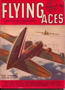 Flying Aces 3/1941-August Schomburg-RAF B-17 cover-hero pulp-VG