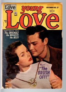 YOUNG LOVE #27-1951-ROMANCE-SIMON & KIRBY ART-PHOTO COVER-PRIZE- VG condition VG