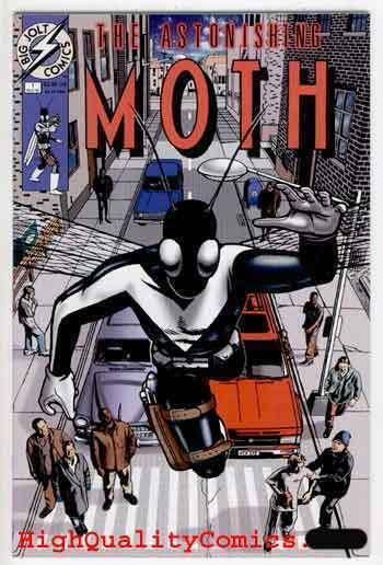 ASTONISHING MOTH #1, NM+, Karl Bauer, 1996, Giant Insect