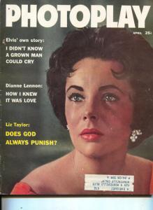Photoplay-Liz Taylor-Elvis-Joan Collins-Cary Grant-Ingrid Bergman-April-1960