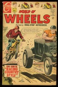WORLD OF WHEELS #18 1967 CHARLTON MOTORCYLE COVER VG