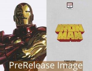 IRON MAN (2020 MARVEL) #1 VARIANT ALEX ROSS IRON MAN TIMELESS PRESALE-09/16