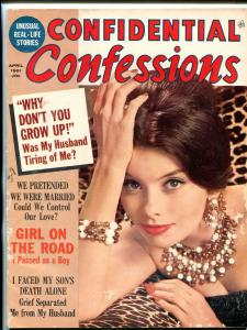 Confidential Confessions Magazine April 1961- Photo cover VG