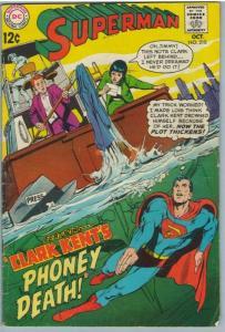 Superman 210 Oct 1968 VG- (3.5)