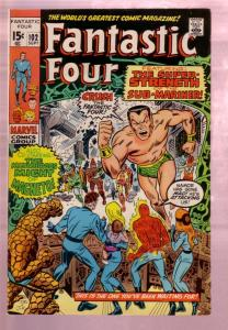 FANTASTIC FOUR #102 1970-SUB MARINER-JACK KIRBY ART MAR VF
