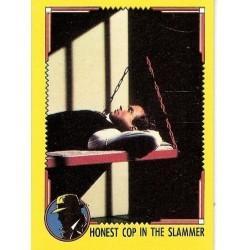 1990 Topps DICK TRACY-HONEST COP IN THE SLAMMER #74