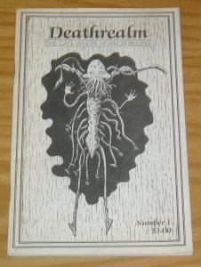 DeathRealm Magazine #1 VG the gate where horror beings - ashcan size 1987 rare