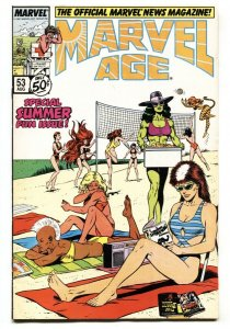 Marvel Age #53She-Hulk swimsuit cover comic book 1987