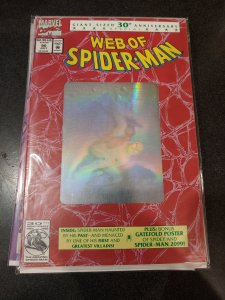 WEB OF SPIDER-MAN #90 (NM) 1992 HOLOGRAM COVER POLYBAGGED 30TH ANNIVERSARY